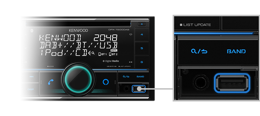 Kenwood DPX7200DAB Double Din CD Receiver -