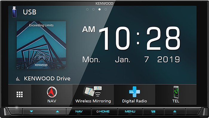 """Kenwood DNX9190DRV Double DIN 6.8"""" Head Unit with Android Auto & Apple CarPlay With Garmin Navigation -"""