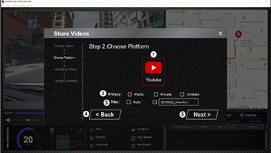 Share your videos directly to social media.