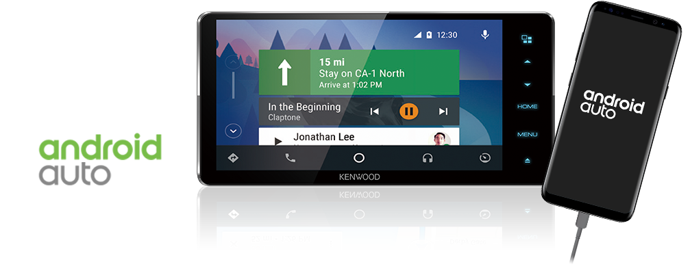 Kenwood DMX7018BT 7 Inch Touchscreen AV Digital Media Receiver with Waze  Nav App Solution