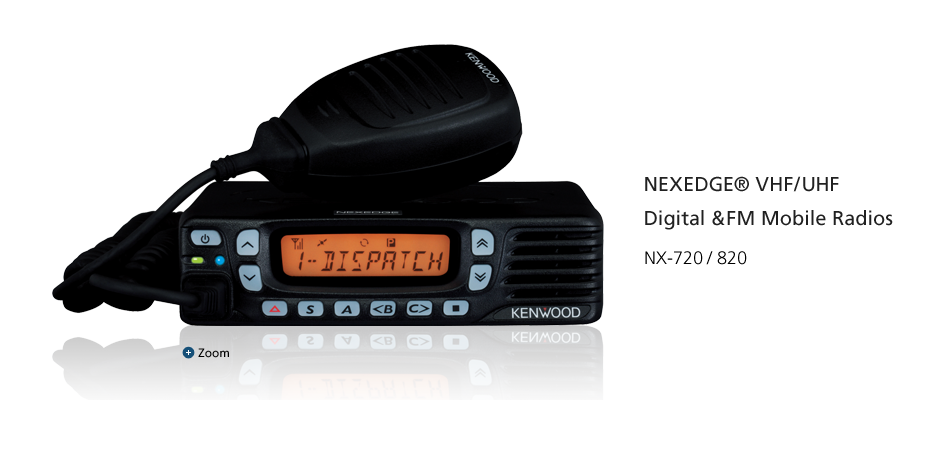 NEXEDGE® VHF/UHF Digital &FM Mobile Radios NX-720/820