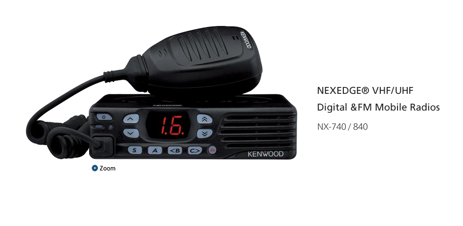 NEXEDGE® VHF/UHF Digital &FM Mobile Radios NX-740H/840H