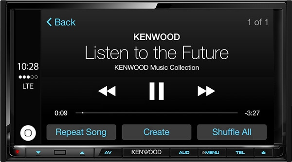 how to use kenwood music control app