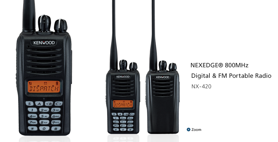 NEXEDGE® 800MHz Digital & FM Portable Radio NX-420