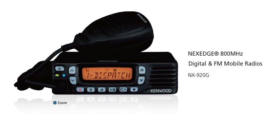 NEXEDGE® 800MHz Digital & FM Mobile Radios NX-920G