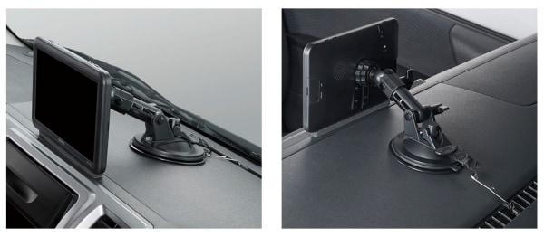 写真:ポータブルナビゲーションの取付例