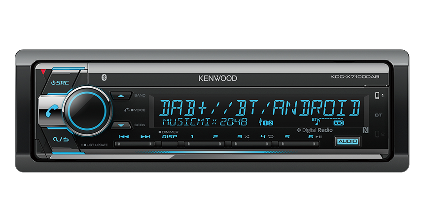 KDC-X7100DAB | 1DIN & 2DIN Receivers | Car Electronics