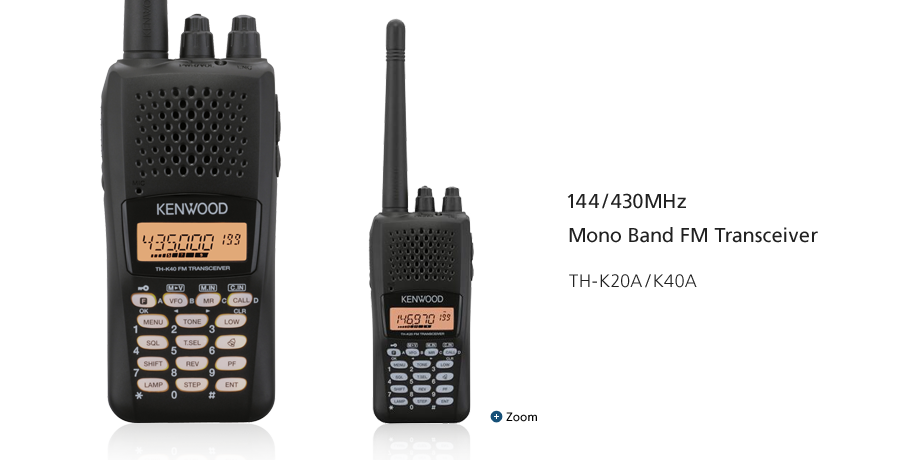 144/430MHz Mono Band FM Transceiver TH-K20A/K40A