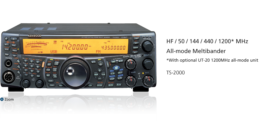 HF/50/144/440/1200* MHz All-mode Meltibander *With optional UT-20 1200MHz all-mode unit TS-2000