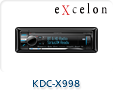 KDC-X998 CD RECEIVER BLUETOOTH HDRADIO 4V PRE OUTS 2 YEAR WARRANTY KDCX998