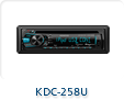 KDC-258U CD RECEIVER WITH FRONT USB AUX INPUTS